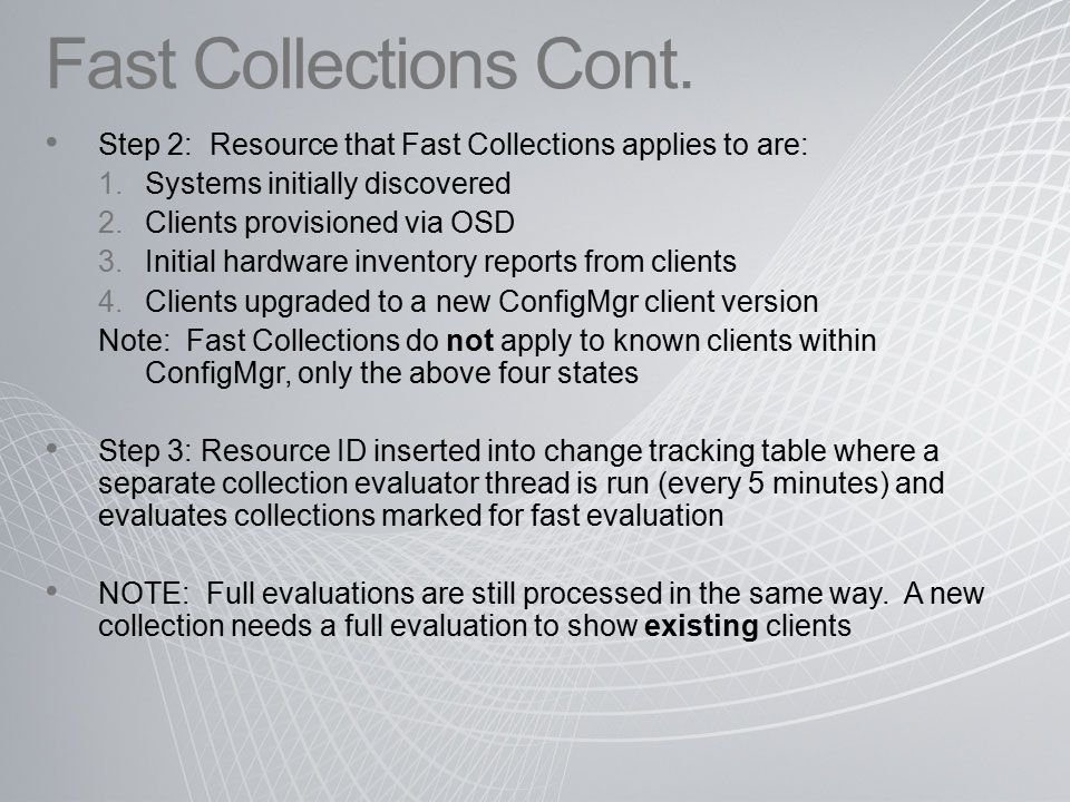 Fast Collections Cont.