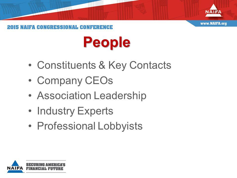 NAIFA's People Strength NAIFA member contact for every member of Congress.