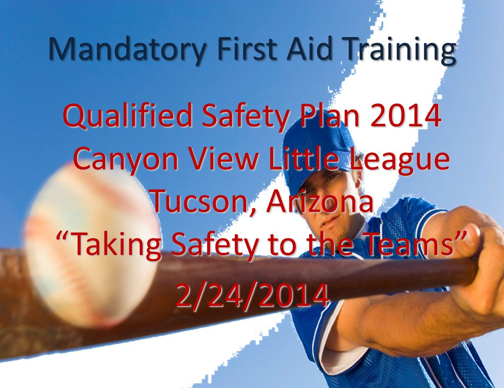 District First Aid Training District 5 will have First Aid Training: March 9th from 9:00am to noon at the Windmill Inn.Please let me know if you attend because I need to report training to National LL.