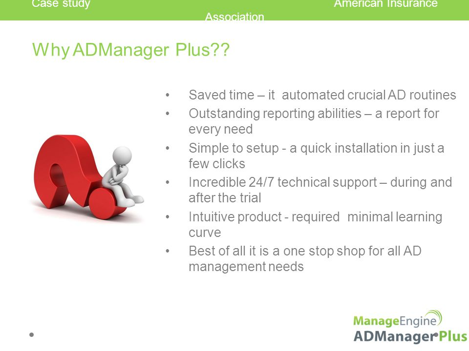 Why ADManager Plus .