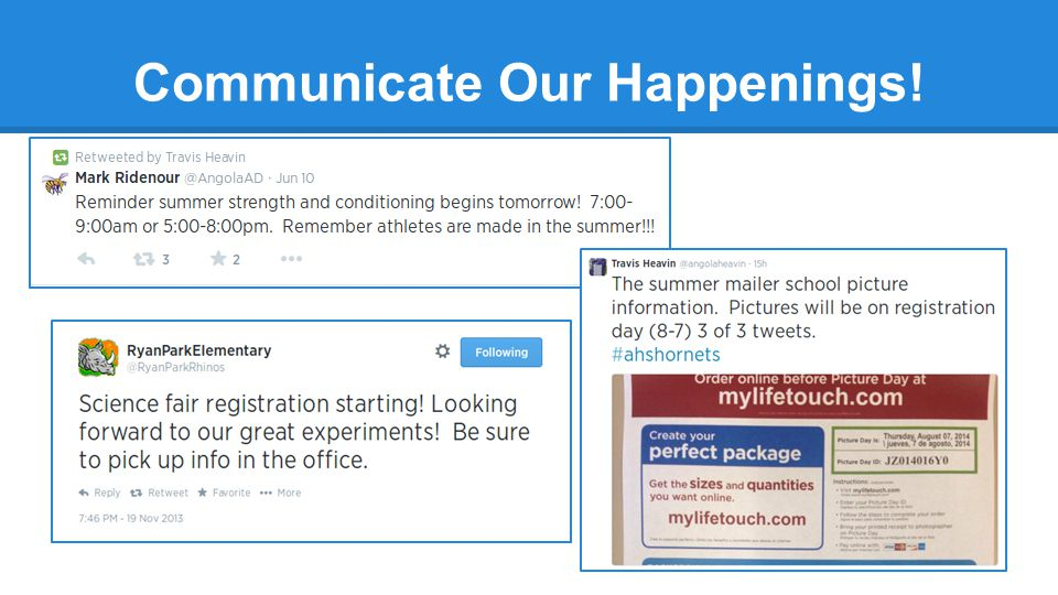Communicate Our Happenings!