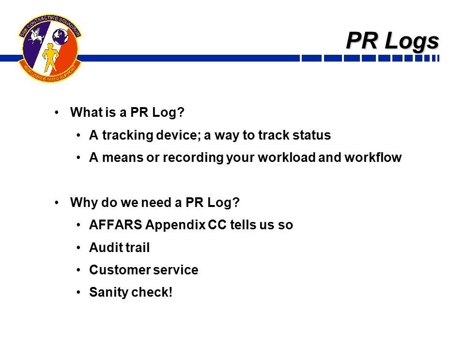 PR Logs What is a PR Log.