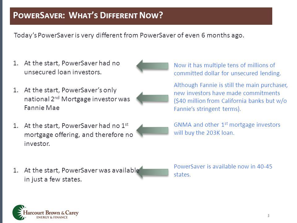 P OWER S AVER : W HAT ' S D IFFERENT N OW ? 5 Today's PowerSaver is very different from PowerSaver of even 6 months ago. Now it has multiple tens of m
