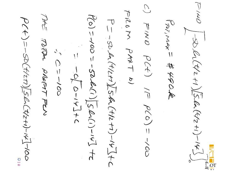 BMayer@ChabotCollege.edu MTH15_Lec-26_sec_5-5_Integral_Apps_Biz-n-Econ.pptx 50 Bruce Mayer, PE Chabot College Mathematics
