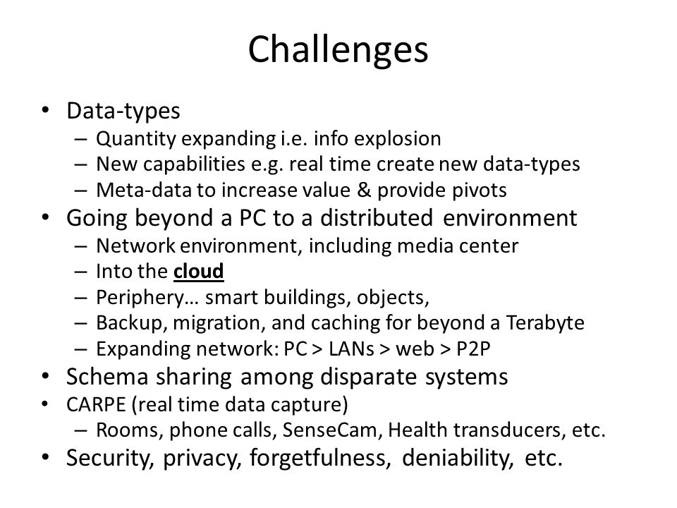More challenges Dear Appy: Monitoring and automatic migration of files that are unlikely to be understood on future platforms as well as platform migr