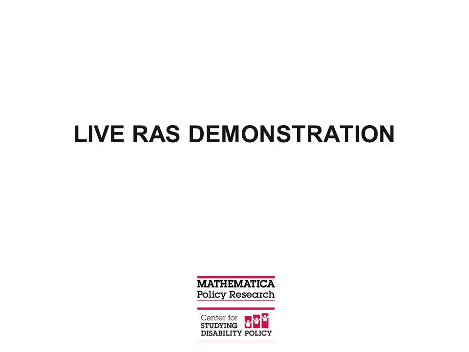 LIVE RAS DEMONSTRATION