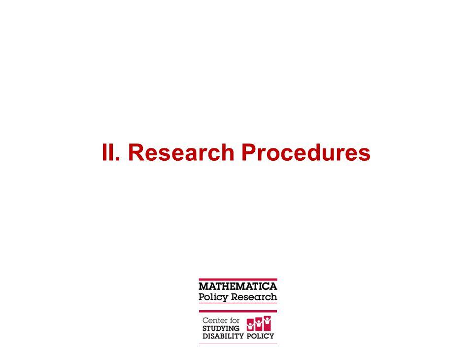 II. Research Procedures