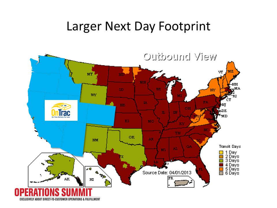 Larger Next Day Footprint