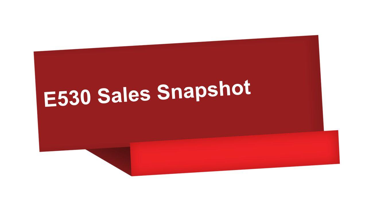E530 Sales Snapshot