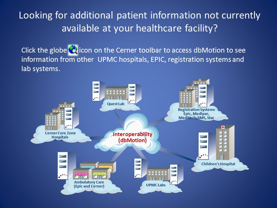 Looking for additional patient information not currently available at your healthcare facility.