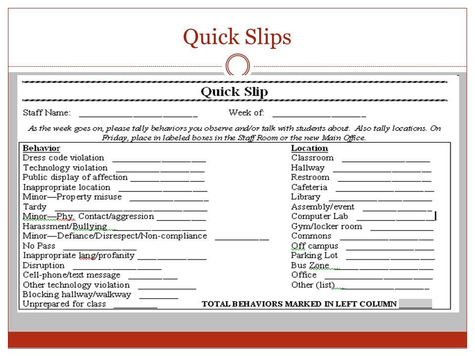 Quick Slips