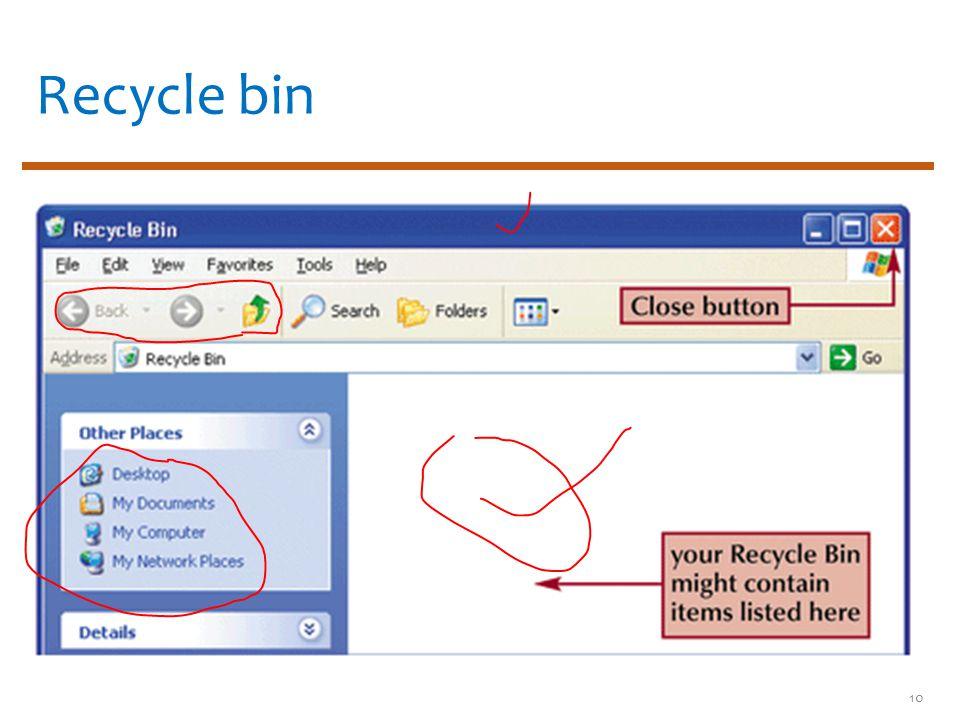 Recycle bin 10
