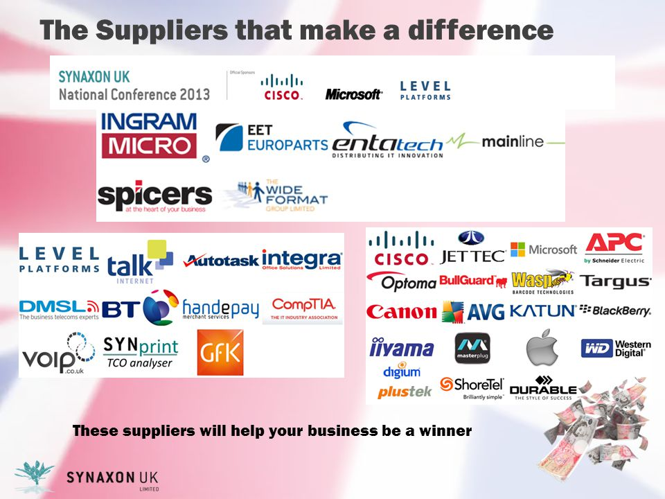 The Suppliers that make a difference These suppliers will help your business be a winner