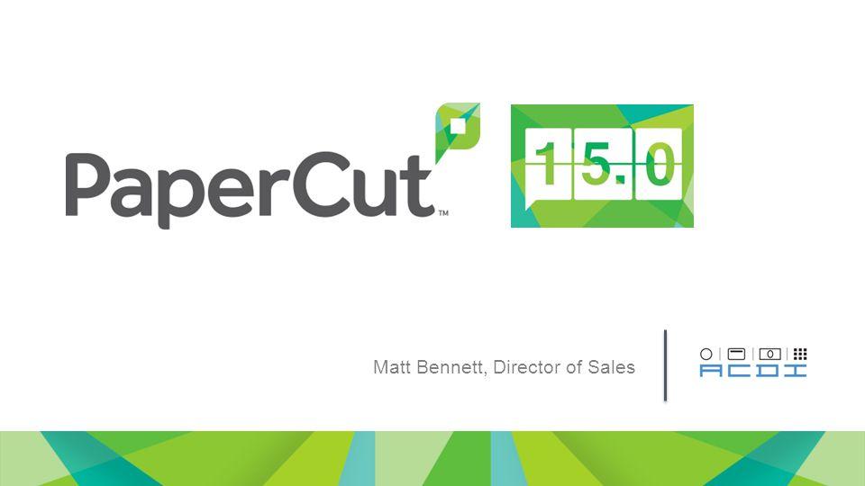 Matt Bennett, Director of Sales