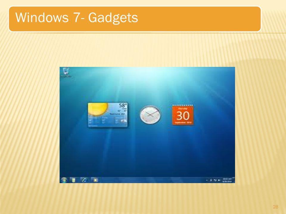 28 Windows 7- Gadgets