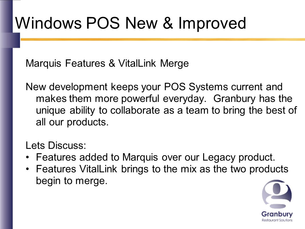 Windows POS New & Improved Marquis Features – Sales Builder Promotions View available rewards the customer can use today, or view the balance they have accumulated in the past.