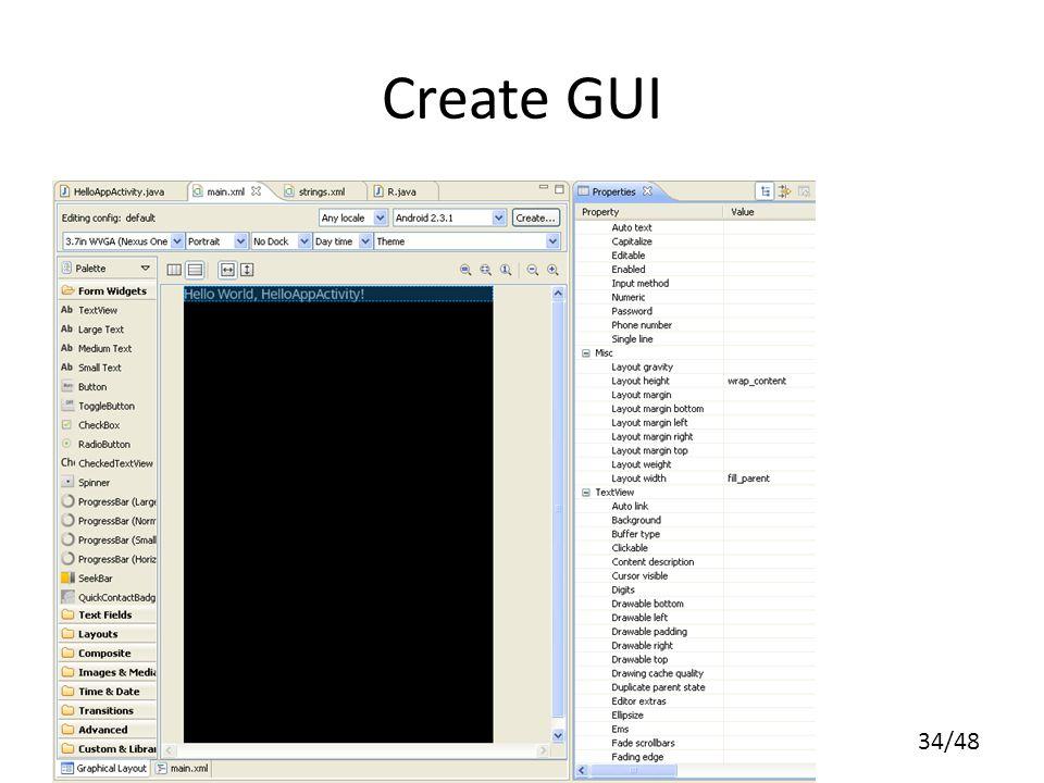 34/48 Create GUI