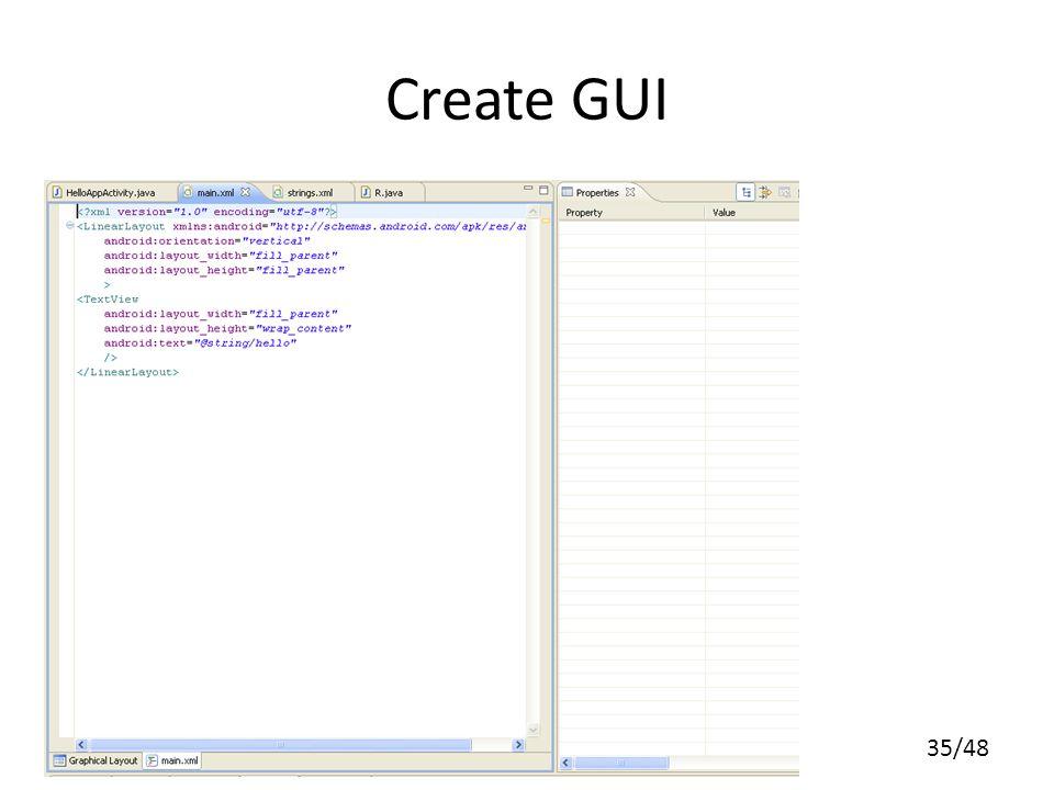 35/48 Create GUI