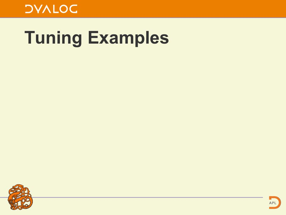 Tuning Examples