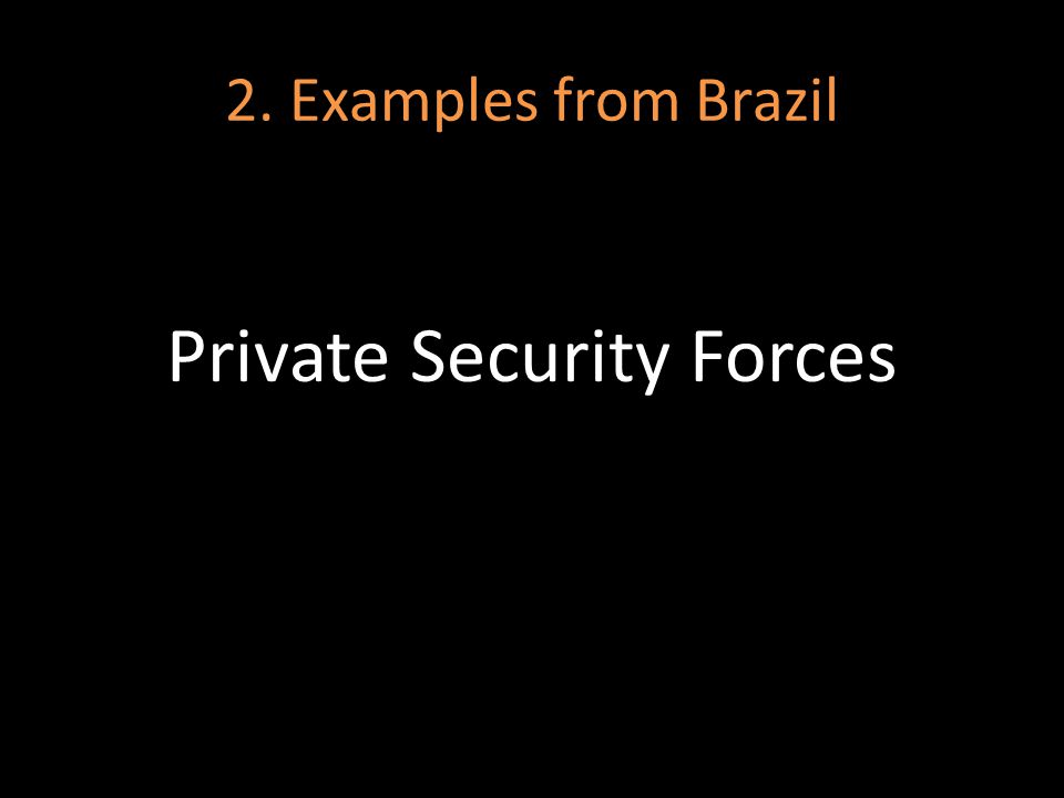 2. Examples from Brazil Private Security Forces