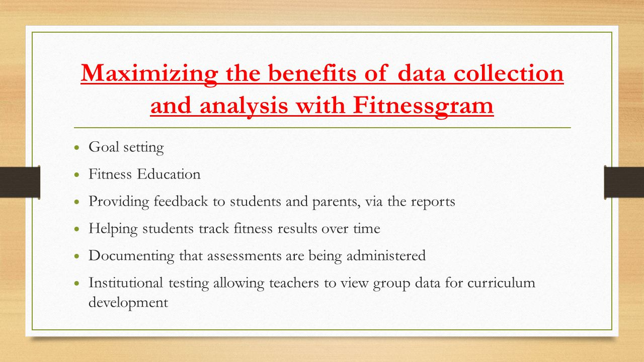 Fitnessgram reports communicate fitness goals to students and parents The Fitnessgram report is available as a student report and a parent report.