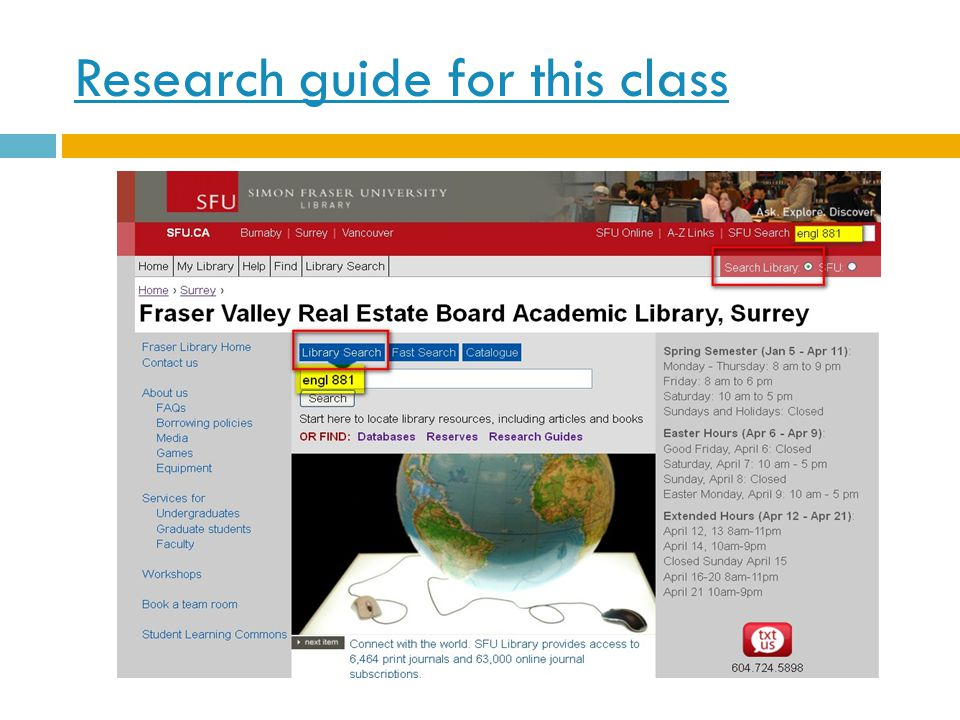 Research guide for this class