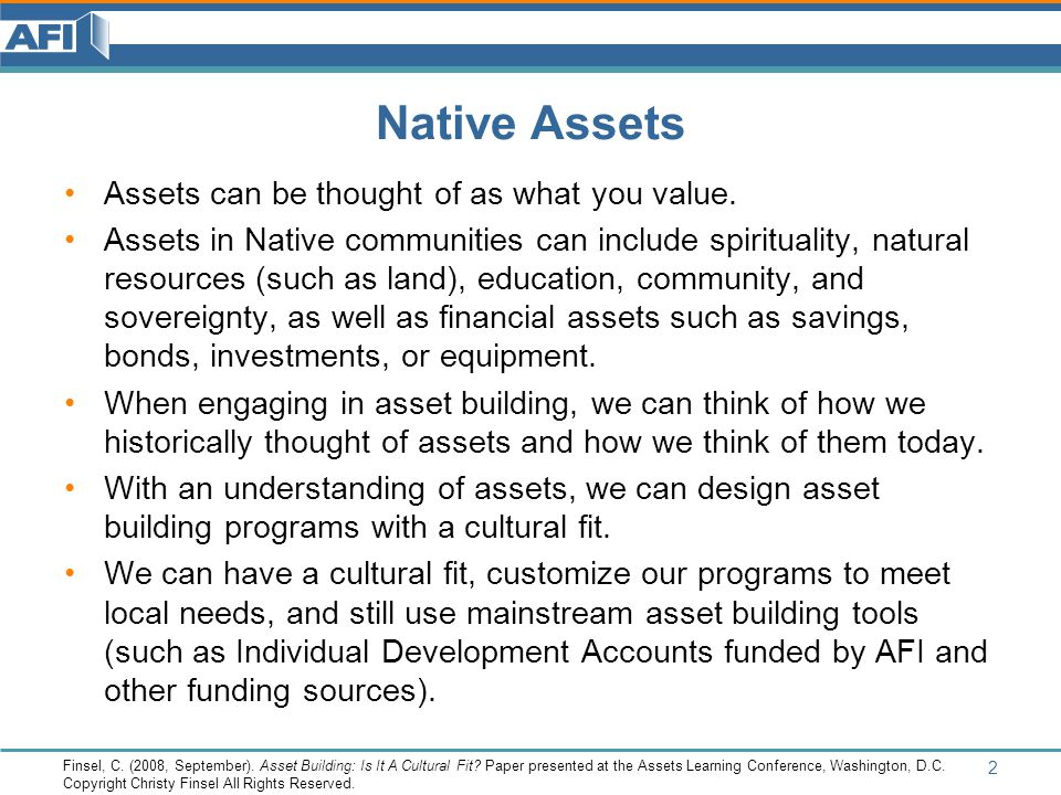 What is Asset Building.