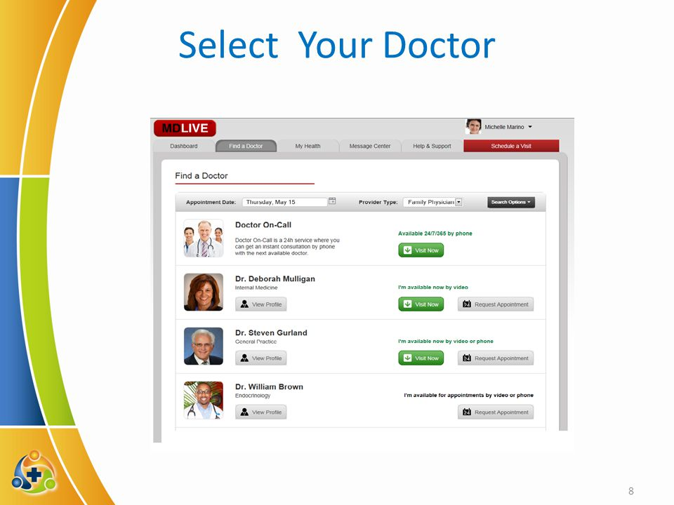 Select Your Doctor 8
