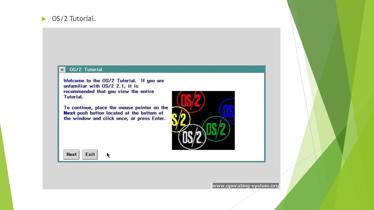  OS/2 Tutorial.
