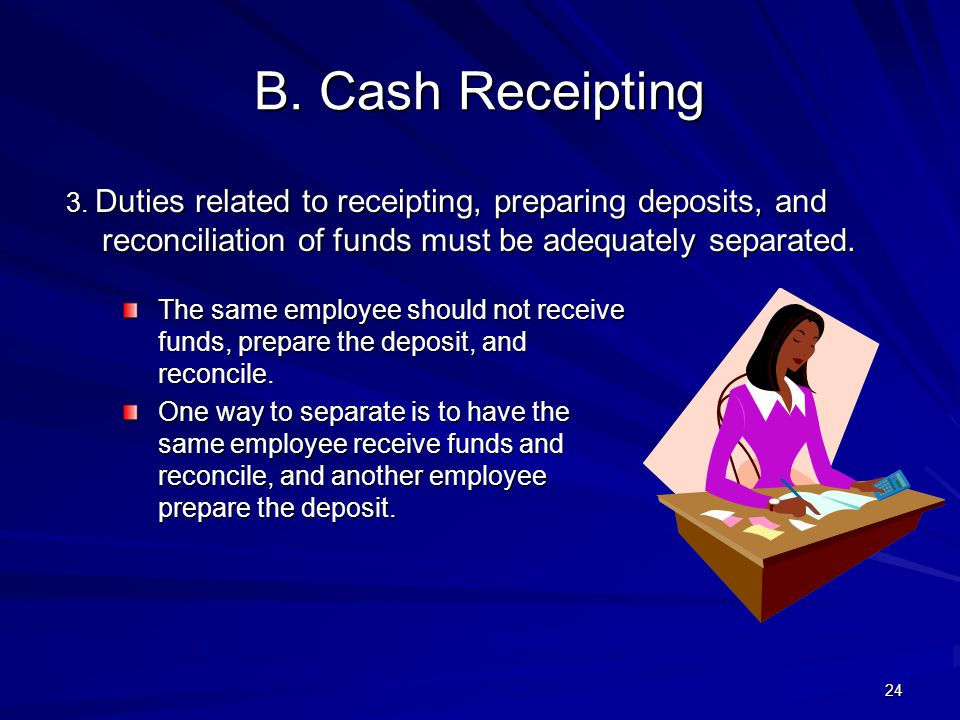 B.Cash Receipting 3.