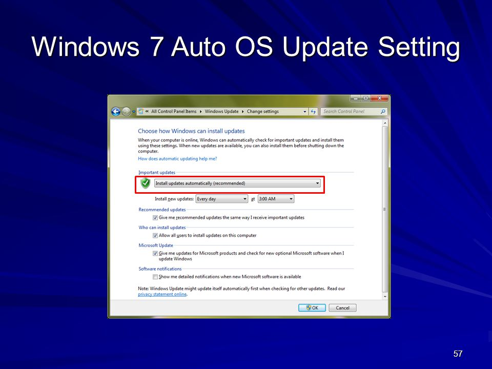 Windows 7 Auto OS Update Setting 57