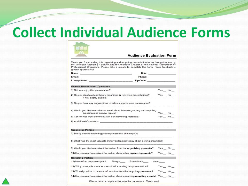 Collect Individual Audience Forms