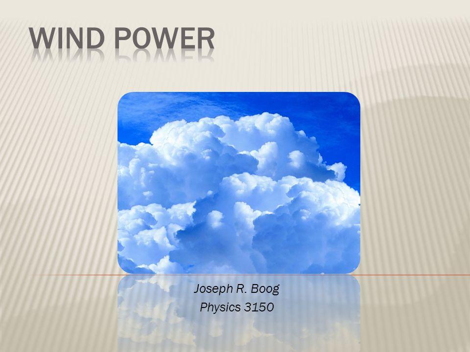 Joseph R. Boog Physics 3150