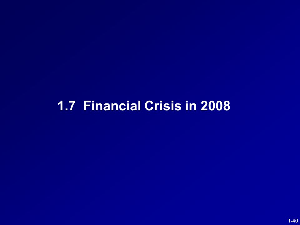 1-40 1.7 Financial Crisis in 2008
