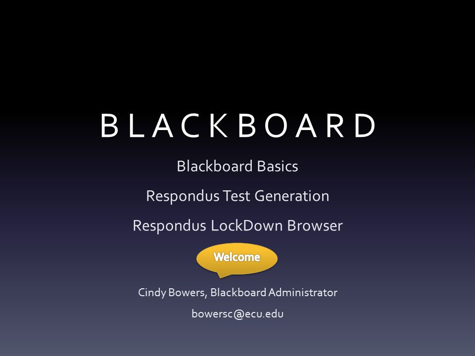 Blackboard 9 – ECU's LMS for the last 12 years Easy to customize menu bar Easy to copy content from one semester to the next Easy to merge multiple sections Arrows to drag/drop + contextual arrows to edit, remove, etc.