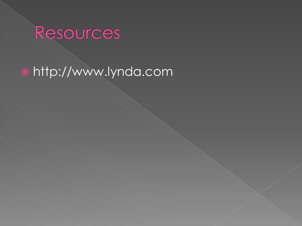  http://www.lynda.com