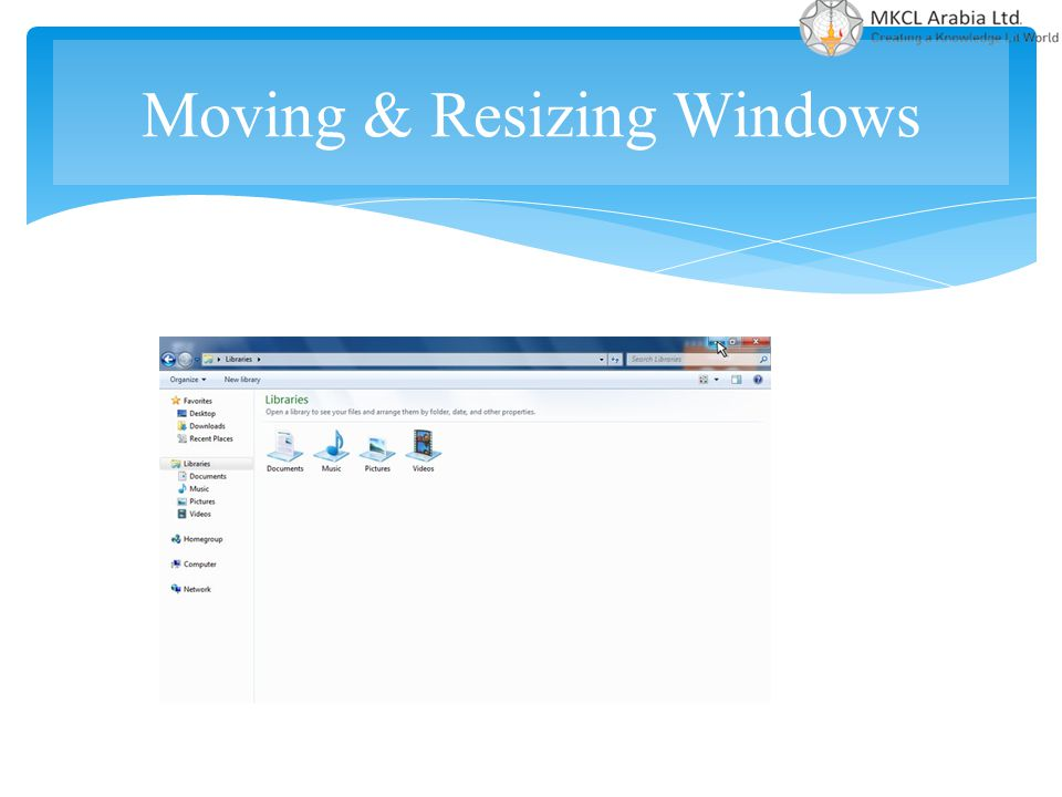 Moving & Resizing Windows