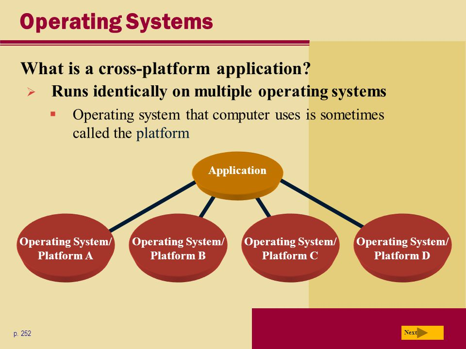 Operating Systems What is a cross-platform application.