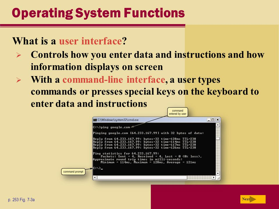 Operating System Functions What is a user interface.