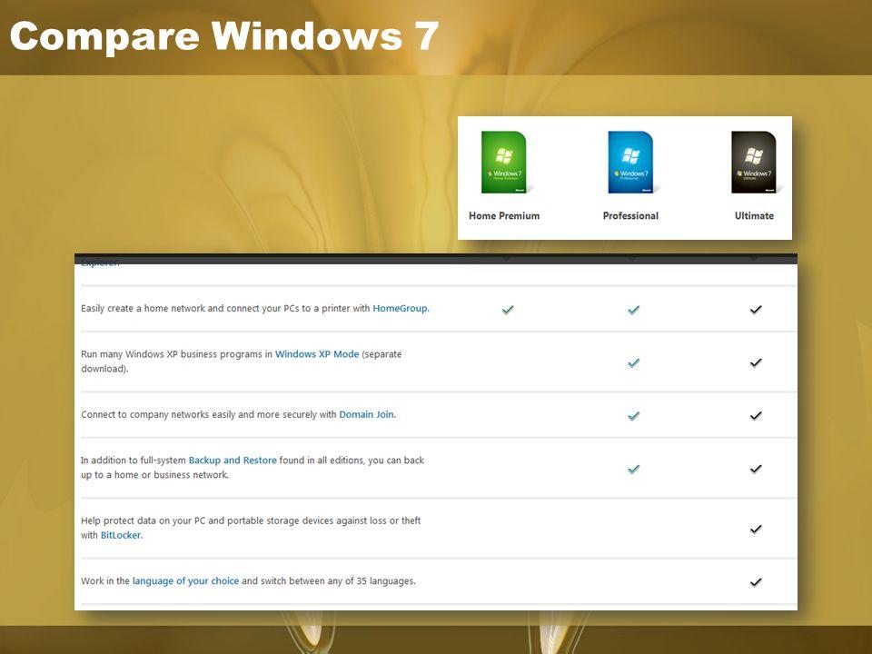 Compare Windows 7
