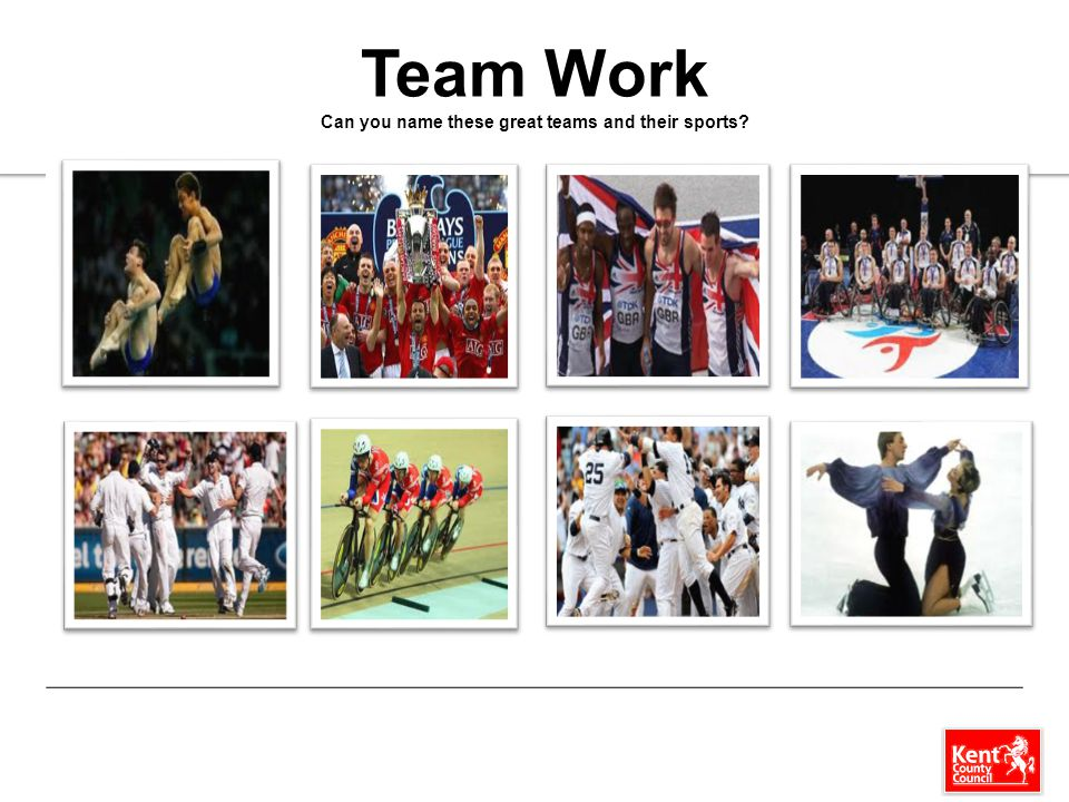 Team Work Can you name these great teams and their sports?