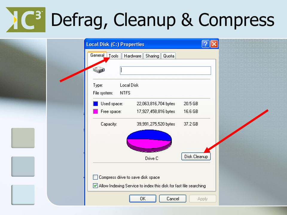 Defrag, Cleanup & Compress