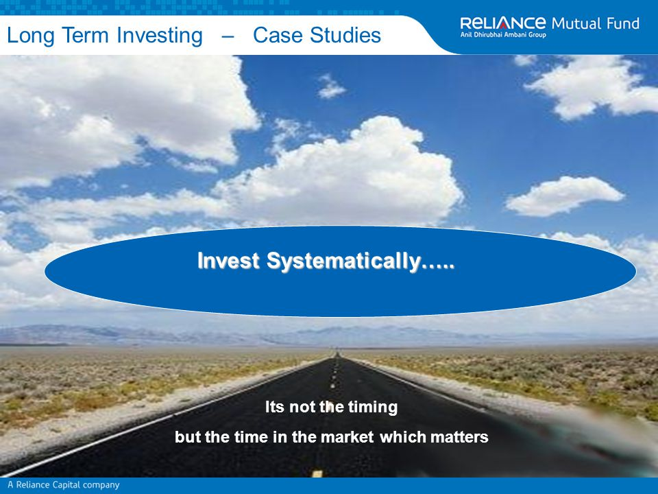 Its not the timing but the time in the market which matters Long Term Investing – Case Studies Invest Systematically…..