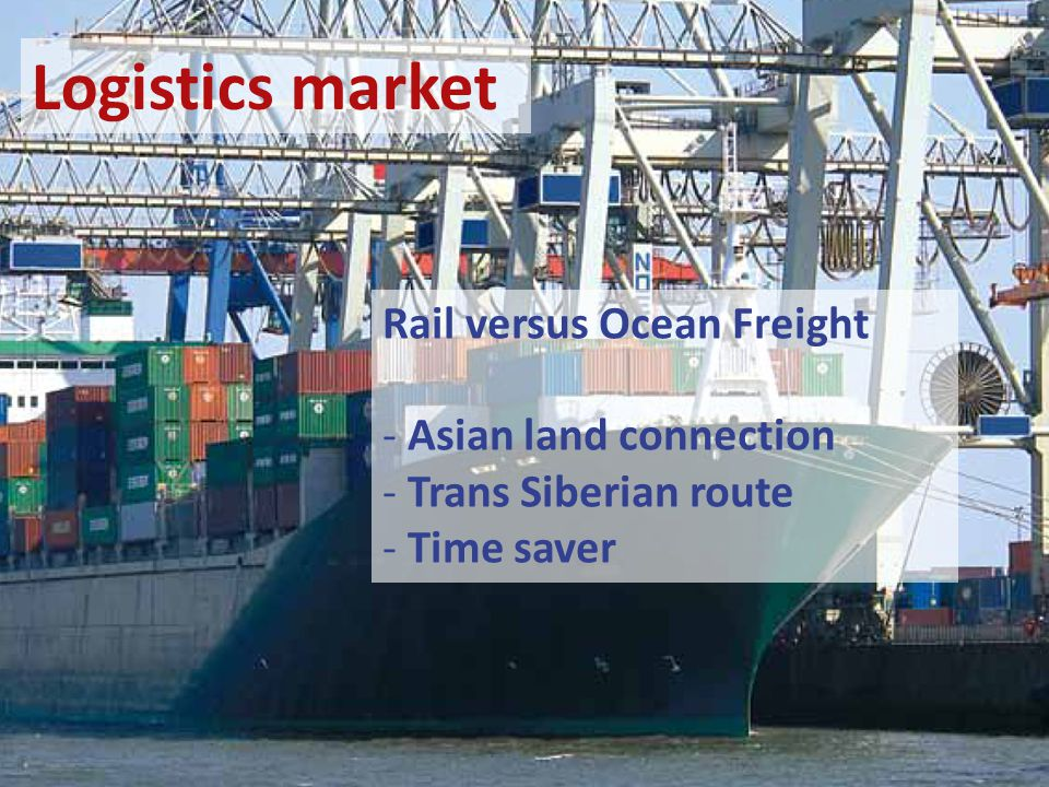 Rail versus Ocean Freight - Asian land connection - Trans Siberian route - Time saver