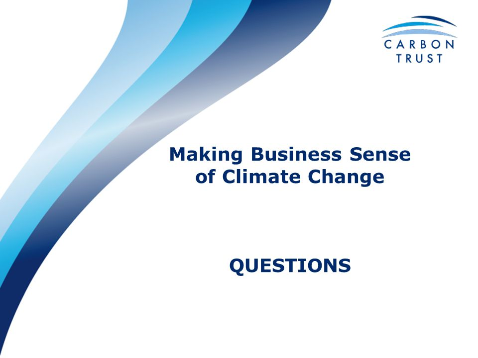 Making Business Sense of Climate Change QUESTIONS