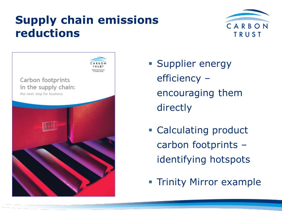 Why the product view is key Targets >50% of emissions –Individual carbon footprint of 11 tonnes CO2 p.a.