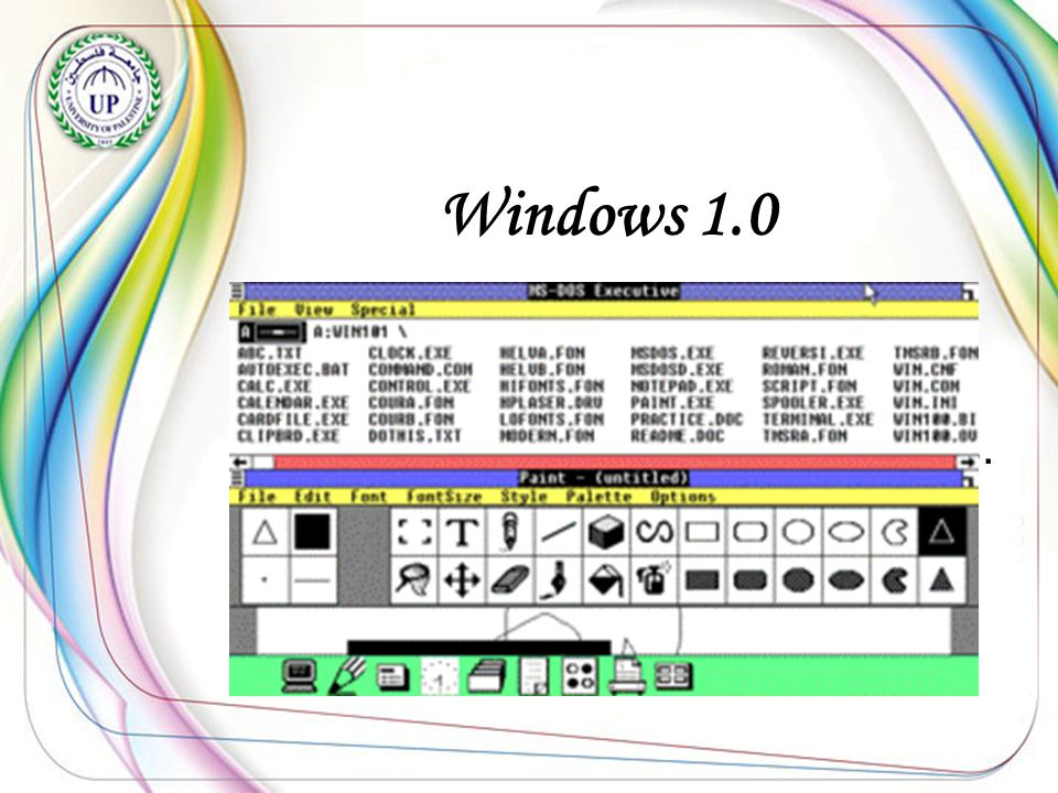Windows 2.0 Was produced in Abril 1987.- -And added the ability to run more than one program -After that it's name that windows 386.