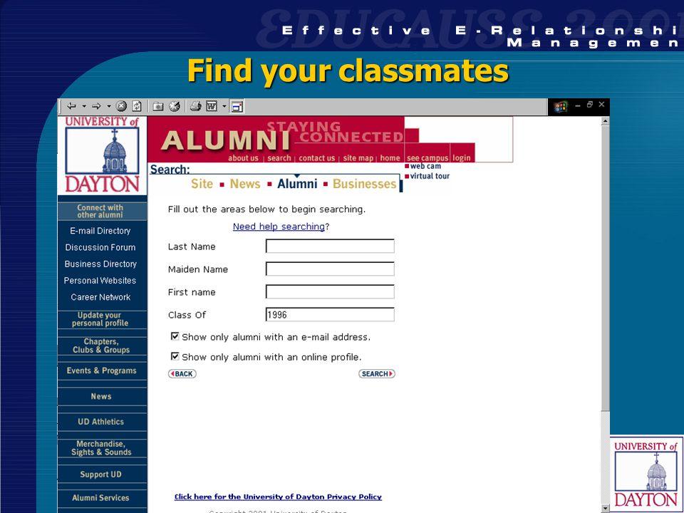 32 Find your classmates
