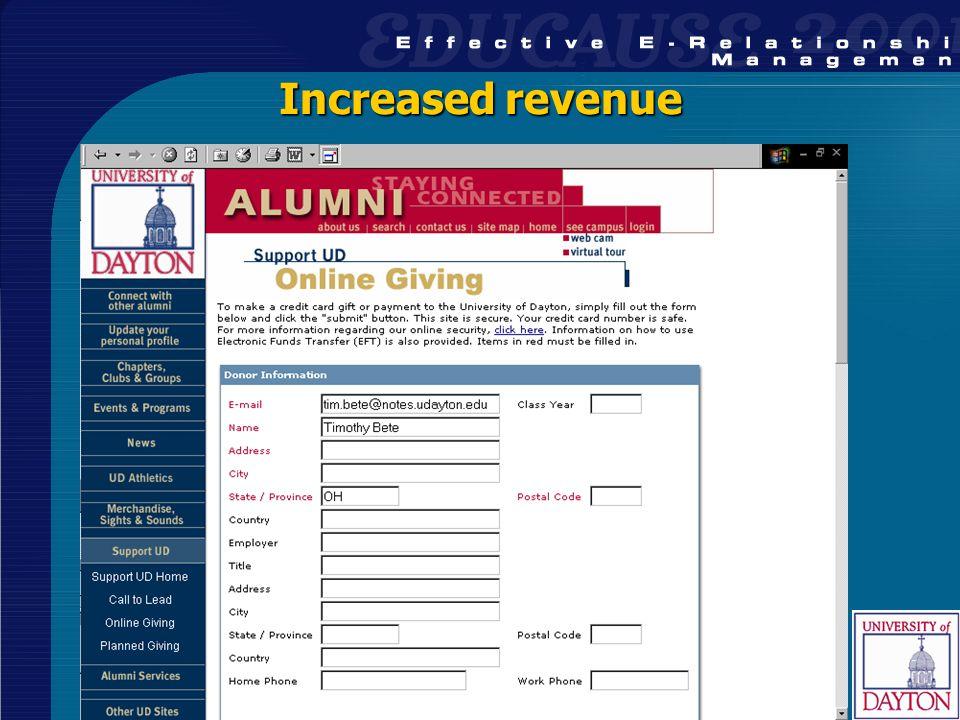34 Increased revenue