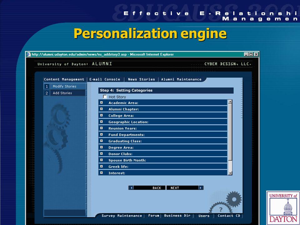 35 Personalization engine